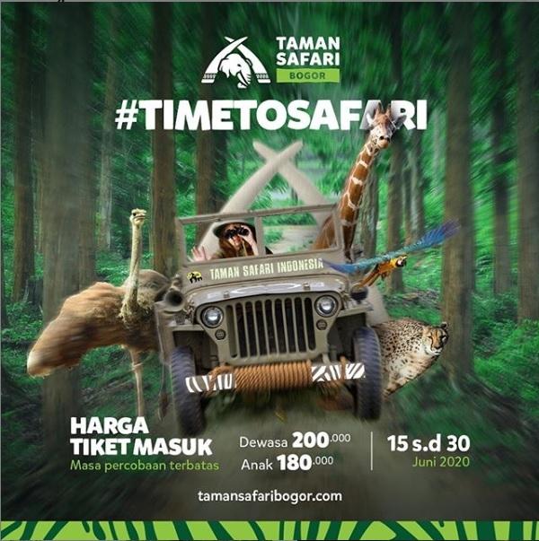 #timetosafari, Bersiaplah untuk 'New Normal' Safari di Taman Safari Bogor!