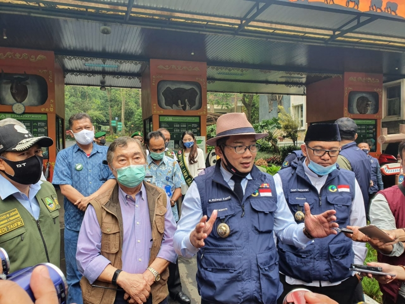 Gubernur Jawa Barat, Ridwan Kamil Meninjau Taman Safari Bogor