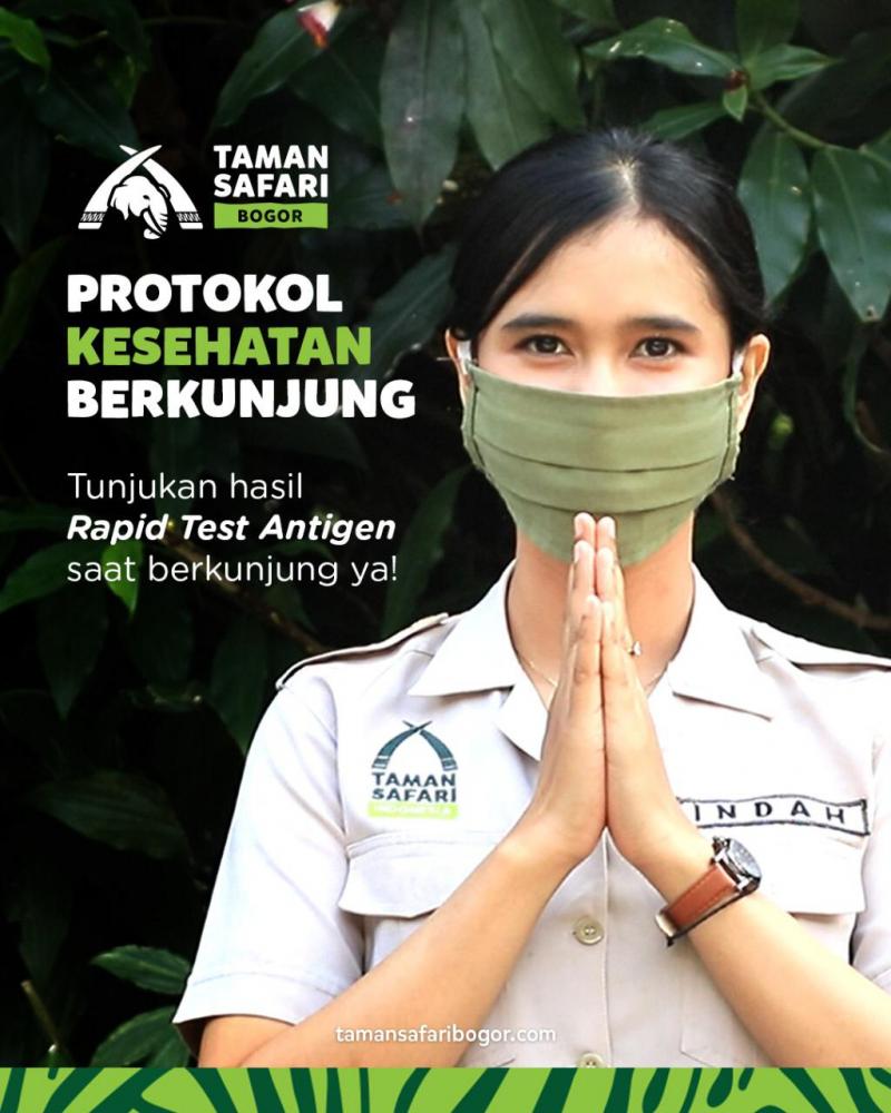Prosedur Kunjungan ke Taman Safari Bogor Saat Libur Natal dan Tahun Baru 2021