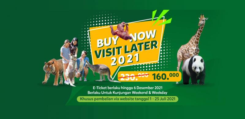 Buy Now Visit Later 2021 di Taman Safari Bogor