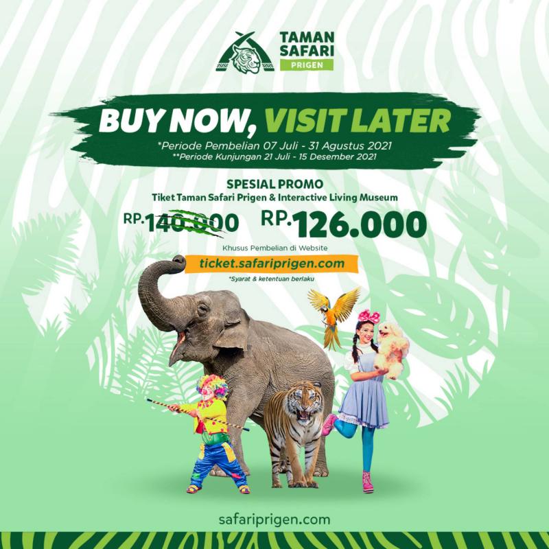 Buy Now Visit Later - Taman Safari Prigen