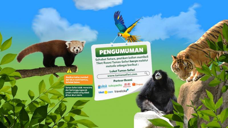 Info Penting Metode Pembelian Tiket Taman Safari!
