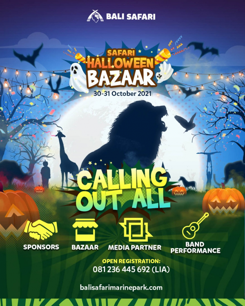 Bali Safari Akan Menggelar Bazzar Halloween 2021
