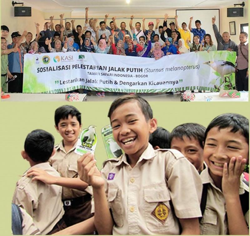 Taman Safari Indonesia Lepasliarkan Puluhan Jalak Putih
