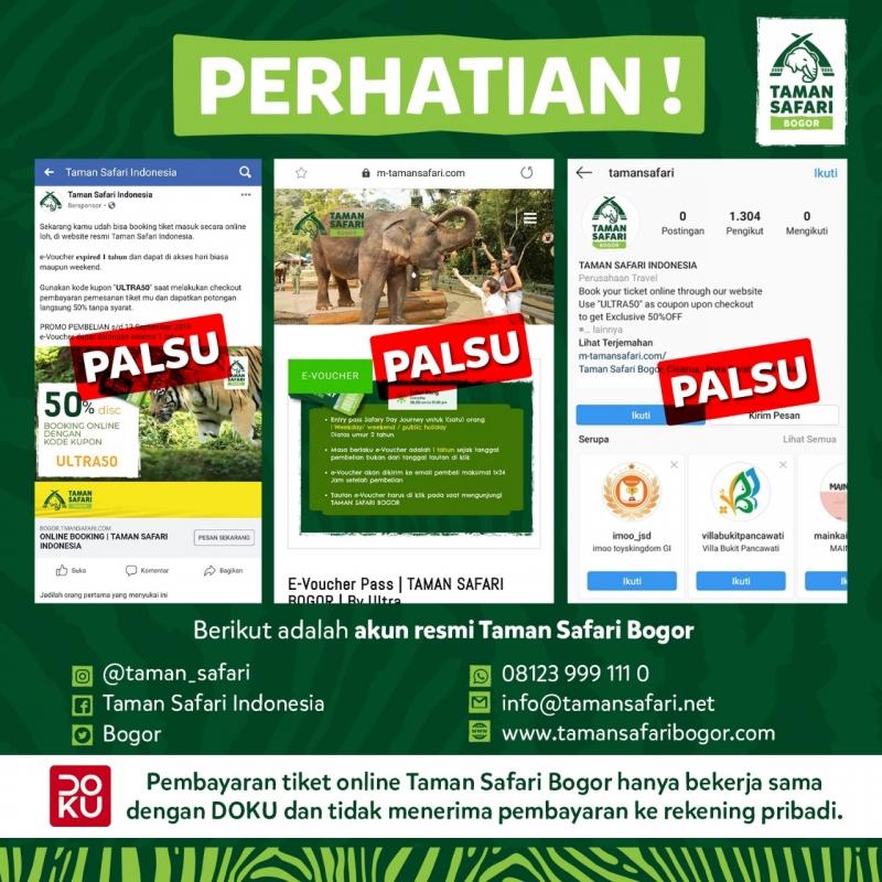 Hati-Hati Terhadap Penipuan Tiket Online Taman Safari Bogor!
