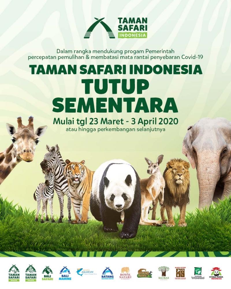 Taman Safari Indonesia (TSI) Group Tutup Sementara!