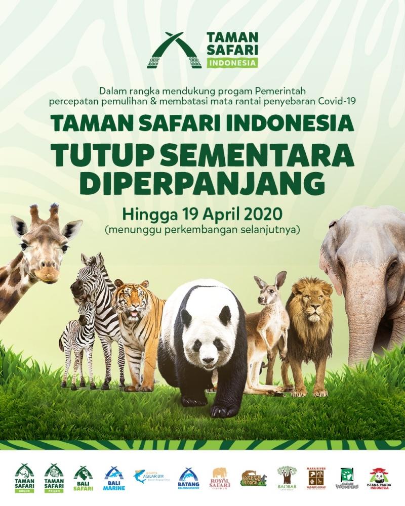 Penutupan Taman Safari Indonesia Diperpanjang!